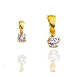 Pendentif pour femme en or 18 carats et diamant - Alpha