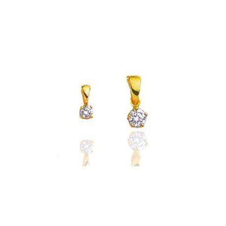 Pendentif femme en or 18 carats et diamant - Alpha