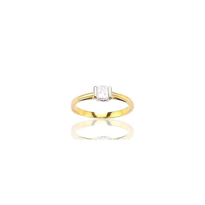 Bague pour femme en or 18 carats et diamant solitaire - Marissa