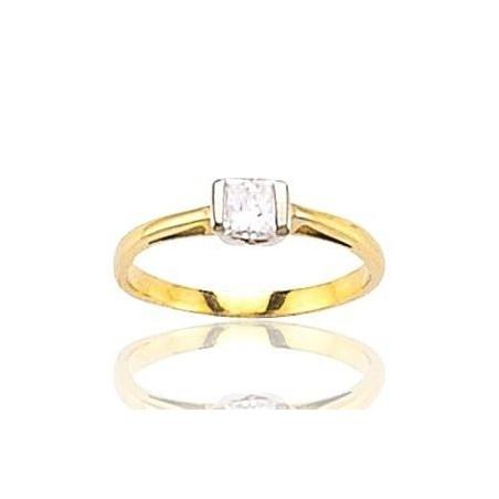 Bague femme en or 18 carats et diamant solitaire - Marissa