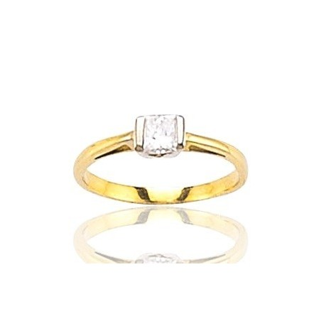 Bague en or 18 carats et diamant solitaire - Marissa