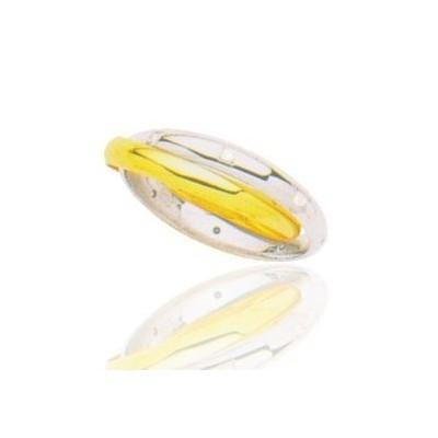 Alliance pour femme deux or et diamant - Anneaux Eternels