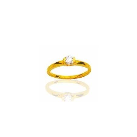 Bague femme en or 18 carats et diamant solitaire - Colombine