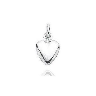 Pendentif femme en argent - Coeur argenté