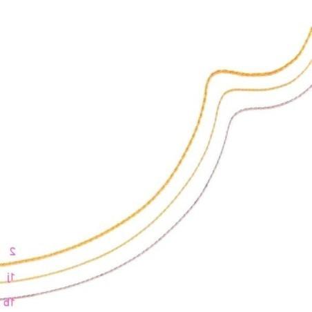 Chaîne femme en or 18 carats 1,2 mm - Maille Corde