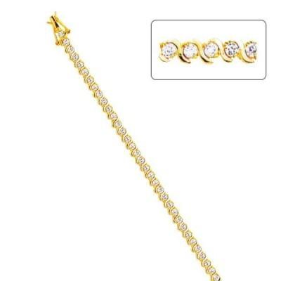 Bracelet gourmette fantaisie pour femme plaqu