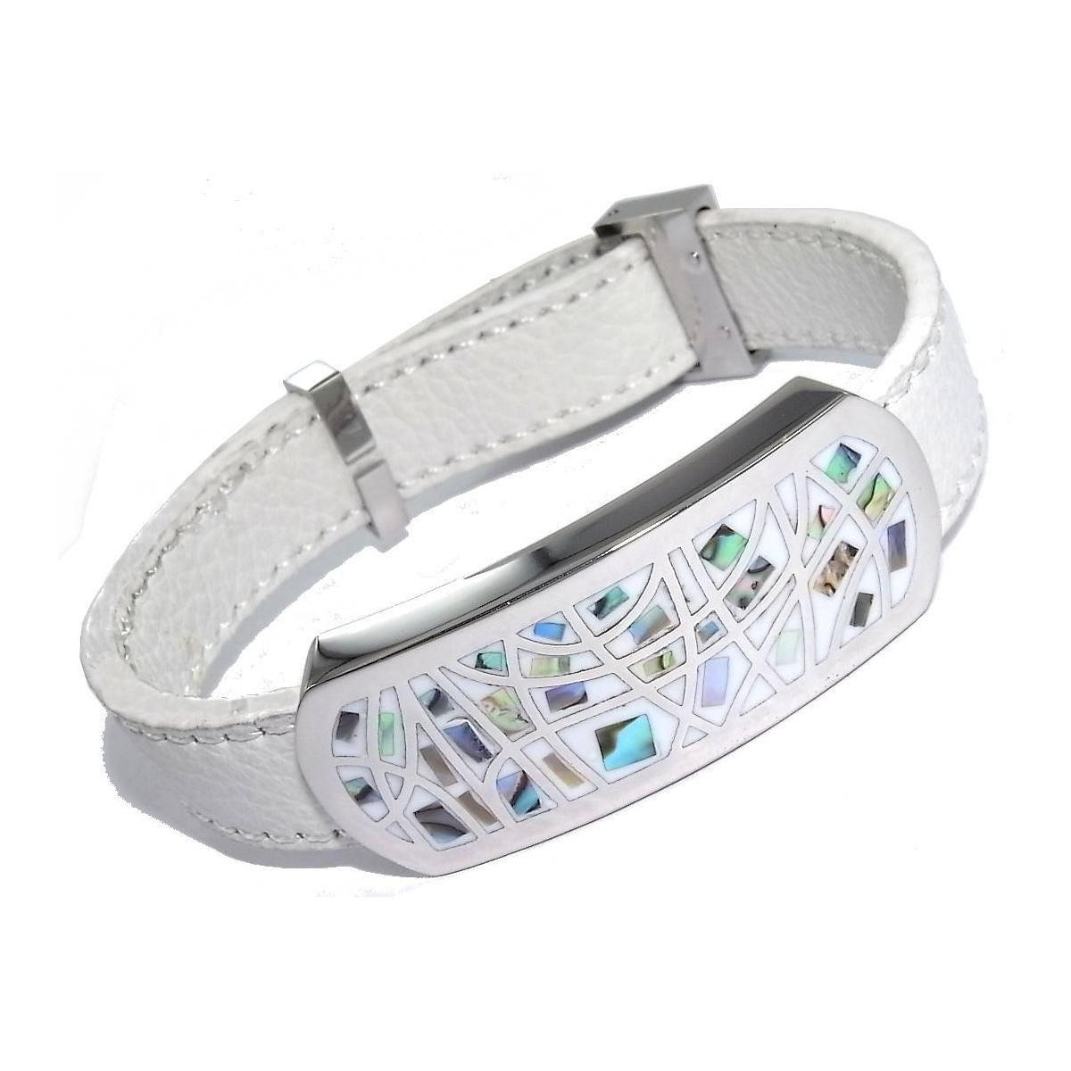 Bracelet en cuir blanc bijoux de la saison 2018 - Comment nettoyer un bijou en argent ...