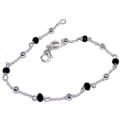 Bracelet de perles en argent - Leïna