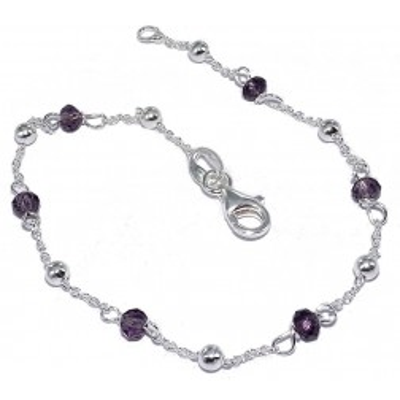 Bracelet de perles en argent - Lenika