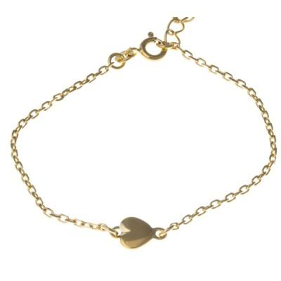 Bracelet coeur en plaqué or - Amore