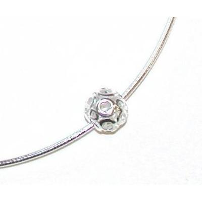 Collier câble en argent et zircon - Etincelle