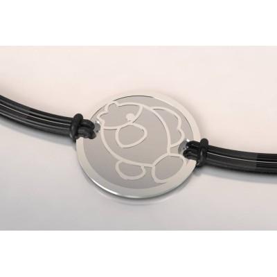 Bracelet créateur original mixte Poisson en acier, argent