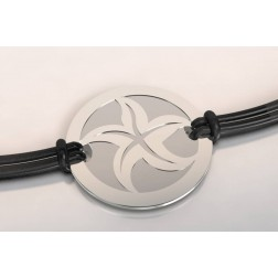 Bracelet créateur en acier et argent, mixte - Etoile de mer