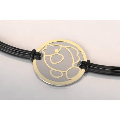 Bracelet créateur en acier et or, mixte - Poisson
