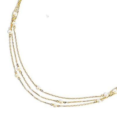Collier en or 18 carats et perle d'eau douce - Finesse