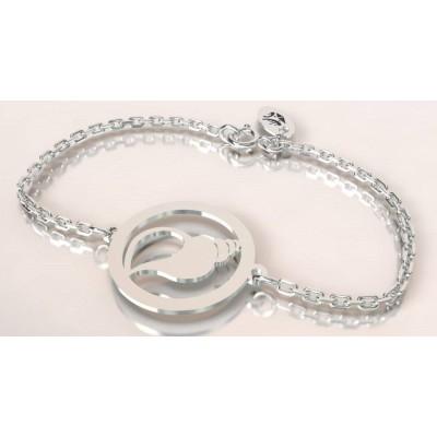 Bracelet créateur en argent, mixte - Coquillage