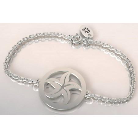 Bracelet jonc pour femme en argent - Torrent