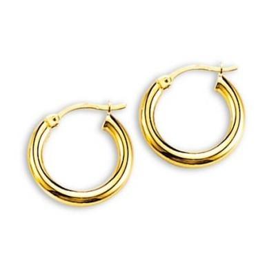 Boucles d'oreilles Créoles en or 18 carats - Lumières 16 mm