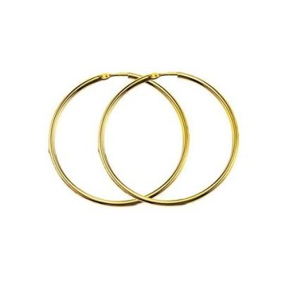 Boucles d'oreilles Créoles en or 18 carats - Poésie 40mm