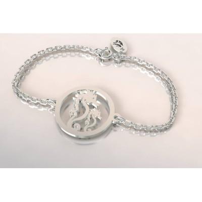 Bracelet de créateur en argent, unisexe - Hippocampe 2