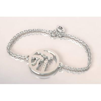 Bracelet de créateur en argent, unisexe - Pin Parasol