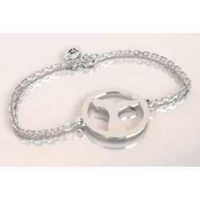 Bracelet créateur en argent, mixte - Queue de Baleine