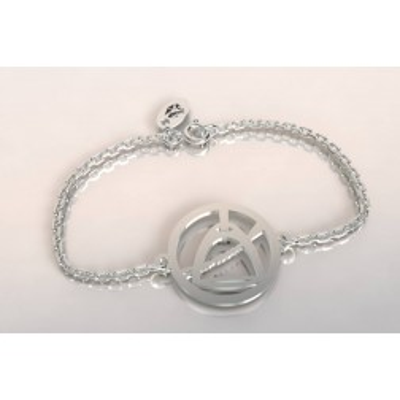 Bracelet de créateur en argent, unisexe - Etrier et cravache
