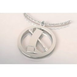 Collier mixte en argent - Botte, cravache