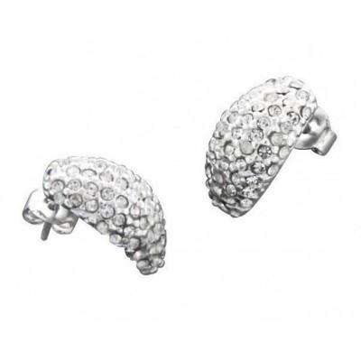 Boucles d'oreilles mode femme LZ - demi -lune Eclats de cristal de Swarovski