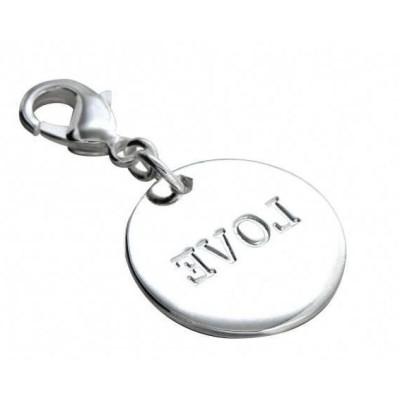 Charm femme LZ en argent - Médaille Love