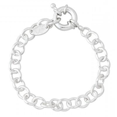 Bracelet femme en argent - Gourmette charms