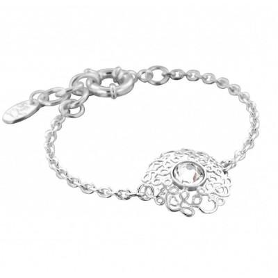 Bracelet femme en argent et cristal de Swarovski® - Rosace