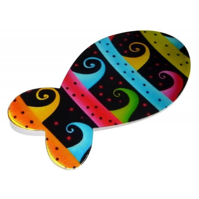 Bijou broche multicolore fantaisie pour femme - Poisson