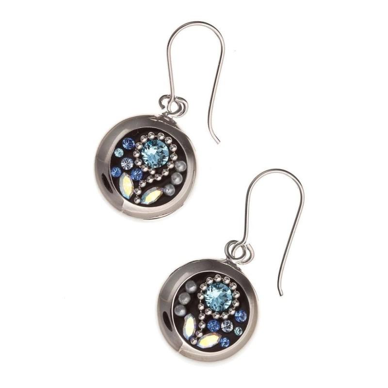 Boucles d'oreilles bijou fantaisie pour femme en argent - Mambo