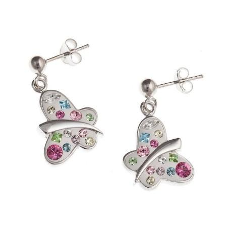 Boucles d'oreilles papillon en argent 925/1000 - Mirette