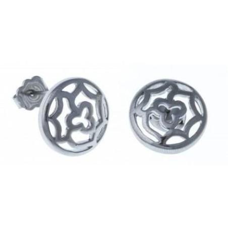 Boucles d'oreilles acier femme - Irina