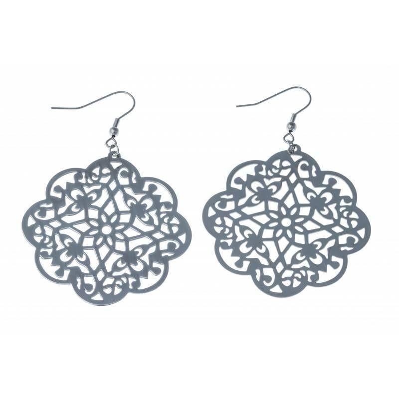 Boucles d'oreilles bijou fantaisie pour femme en acier - Priana
