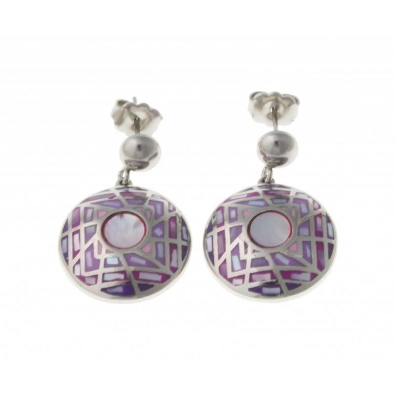 Boucles d'oreilles bijou fantaisie pour femme en acier - Hortense