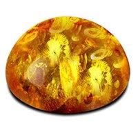 ambre jaune pour la bijouterie