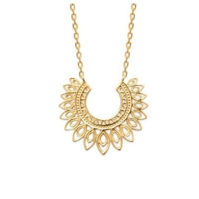 Collier + pendentif oriental pour femme en plaqué or