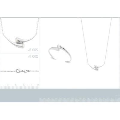 Bracelet jonc rigide ouvert pour femme en argent rhodié & Nacre