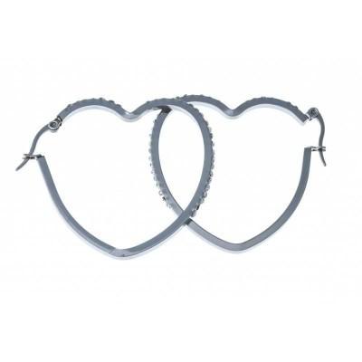 boucle d'oreille acier inoxydable fantaisie pour femme, Symbiose