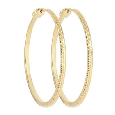 Boucles créoles femme en plaqué or, diamètre 60 mm - Vimila - Lyn&Or Bijoux