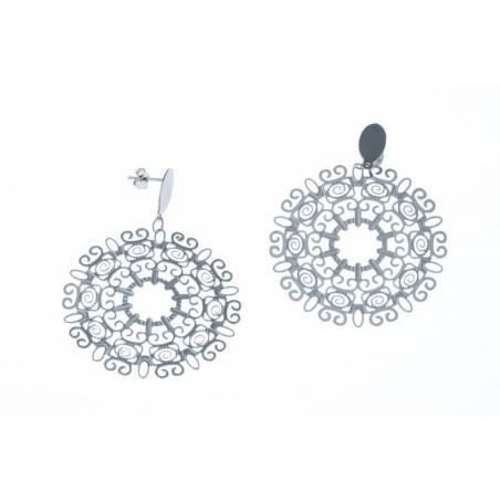 Boucles d'oreilles pendantes acier - Tyma