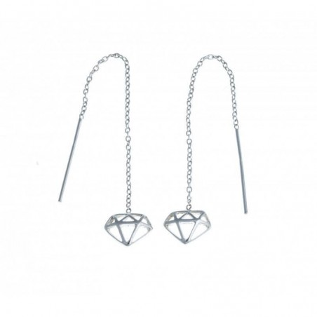 Boucles d'oreilles en argent 925 - Diamant