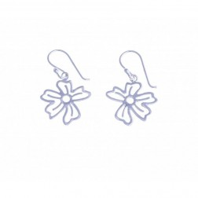 Boucles d'oreilles Fleurs en argent pour femme - Pensée - Lyn&Or Bijoux