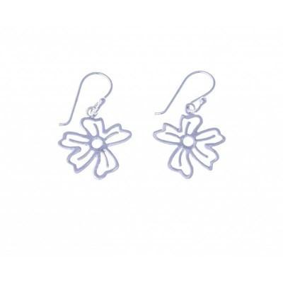 Boucles d'oreille Fleurs en argent pour femme - Pensée - Lyn&Or Bijoux
