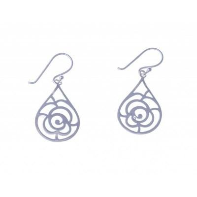 Boucles d'oreille pendantes femme en argent - Symbiose - Lyn&Or Bijoux