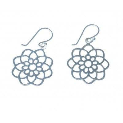 Boucles d'oreille en argent 925 pour femme - Rosina - Lyn&Or Bijoux