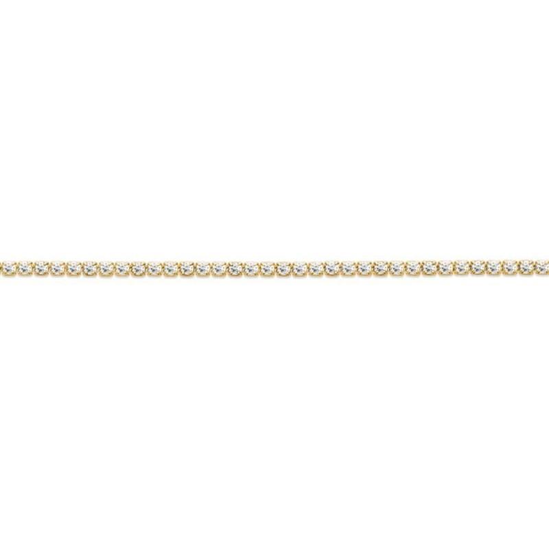 Bracelet Tennis pour femme en plaqué or & Zircon